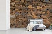 Fotobehang Antieke stenen muur - Ro antieke stenen muur fotobehang vinyl breedte 600 cm x hoogte 400 cm - Foto print op vinyl behang (in 7 formaten beschikbaar) - slaapkamer/woonkamer/kantoor