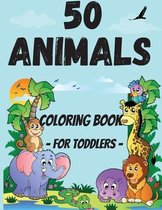 50 Animals Coloring Book for Toddler