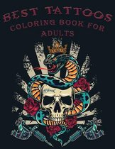 Best Tattoos Coloring Book for Adults