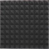 Geluidsisolatie - Akoestisch foam - ZWART - Pyramide - Studio foam - Noppenschuim - 50 x 50cm - Isolatie plaat.