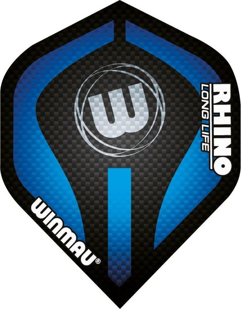 Winmau Rhino Logo Blauw