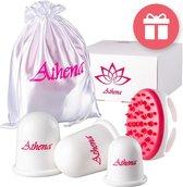 Premium Cellulite Cups - Cellulite Massage Apparaat - Cellulitis Apparaat - Cupping Set - Vacuüm Massage cups - Massage Borstel | Athena