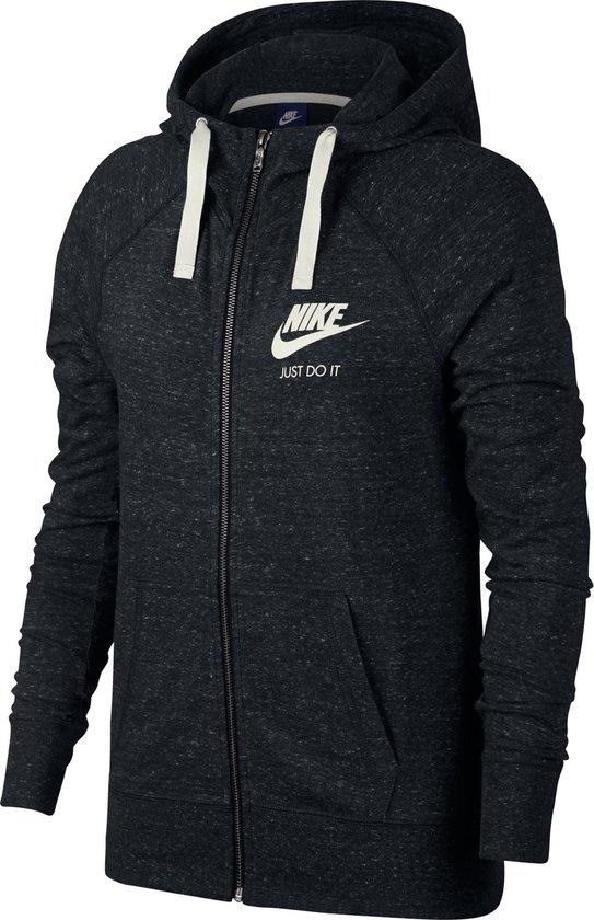 Nike Nsw Gym Vintage Hoodie Fz Vest Dames - Black/(Sail) - Maat S