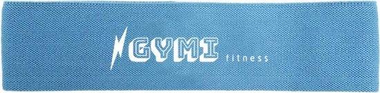 GYMI fitness weerstandsbanden | Resistance bands | Fitness elastiek | Booty Band | Weerstandsband licht blauw | Sterkte: light
