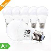 B.K.Licht - LED lamp E27 - verlichting - 5-delige set - A60 - 9W - 2700K warm wit licht - lampjes