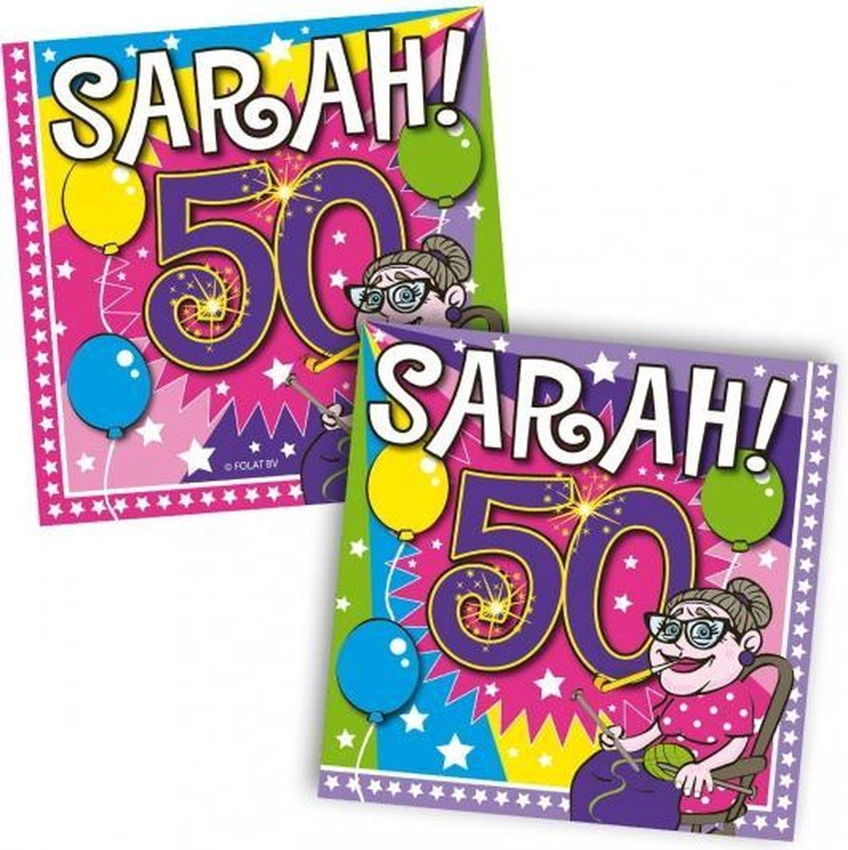 Sarah 50 jaar servetten - Folat