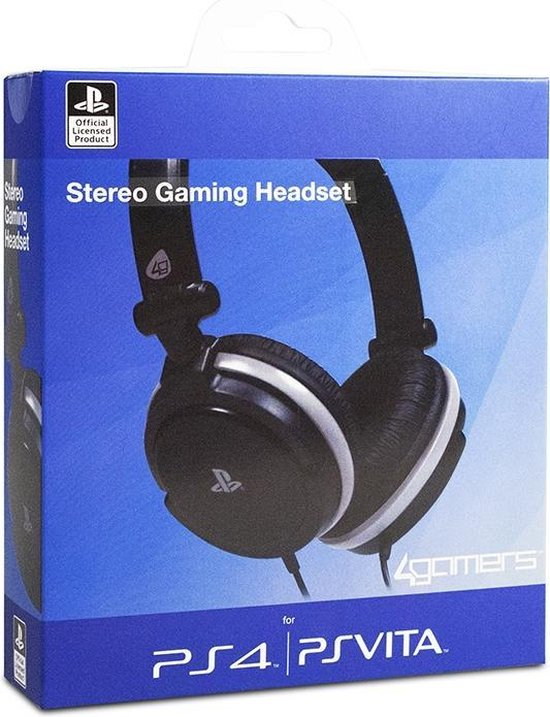 4gamers stereo gaming headset ps4 + ps vita