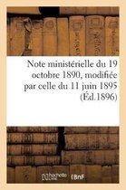 Note ministerielle du 19 octobre 1890 relative aux cessions a charge de remboursement a faire