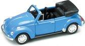 WELLY 42344 Volkswagen kever Beetle Cabrio in vensterdoos blauw