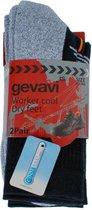Gevavi Workwear GW81 Coolmax Zwart 2 Paar/Bundel Sokken 39/42