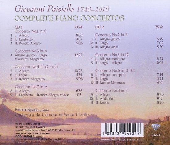 Paisiello: Complete Piano Concertos