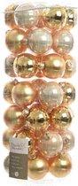 Glas Kerstballen Mix (6cm) Box 49 Stuks Gold