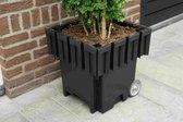 Yoepplanter Basisbak Plantenbak  - 3x Innovatie: Koppelbare Verrijdbare en Wisselbaar Design - Grote Bloembak Bloempot Plantenpot - Binnen Buiten Tuin Balkon en Huiskamer - Groot 40x40x40 Vierkant