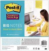 3M Post-it Super Sticky Big Notes, geel, 279mmx279mm, 30 vellen