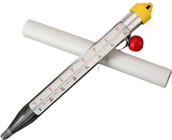 Suikerthermometer Extra Lang - Meetbereik 50 - 200 Graden Celcius