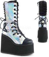Demonia Enkellaars -39 Shoes- SWING-120 US 9 Zwart/Zilverkleurig