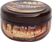Black & Red Klei Gezichtsmasker - Chocolade