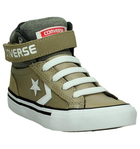 Converse Pro Blaze Strap Hi Sneaker hoog sportief Jongens Maat 34 Groen khakistorm windwhite