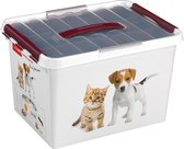 Sunware Q-Line Opbergbox - 22L - Met Tray - Pet Decor