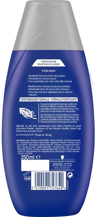 Schwarzkopf Shampoo For Men 6x 250ml - Voordeelverpakking