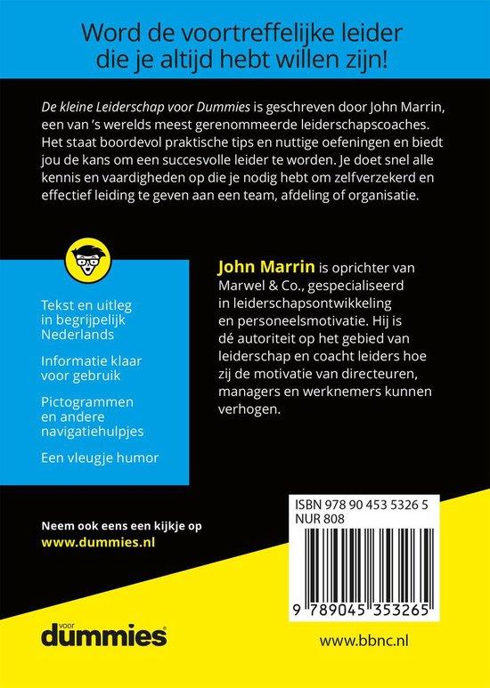 De kleine leiderschap voor dummies - John Marrin