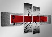 Art4-all - Canvas Schilderij Black Flower - 160x70cm