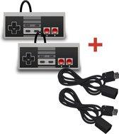 2 Controllers + 2 Verlengkabels voor de Nintendo Mini Classic NES - Ultimate Pack
