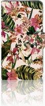 Smartphone Hoesje LG X Style Uniek  Bookcase Hoesje Flowers