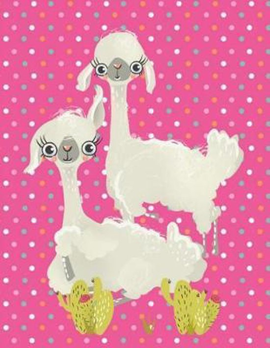 Composition Book - Llovable Llamas on Pink