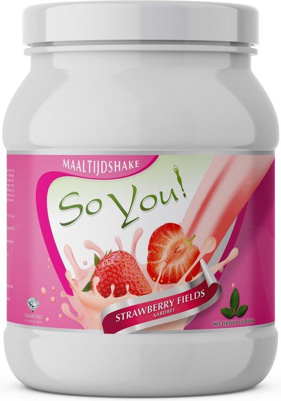 SoYou! Maaltijdshake Strawberry Fields zonder kunstmatige zoetstoffen!