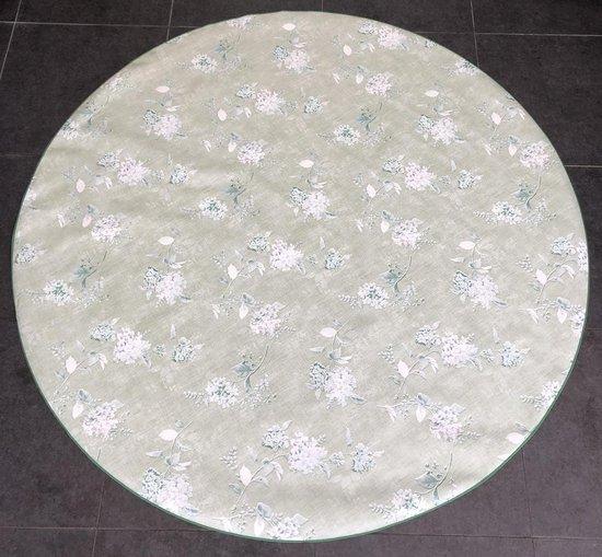 Bonita Tafelzeil - Rond 160 cm - Flowers - Green White