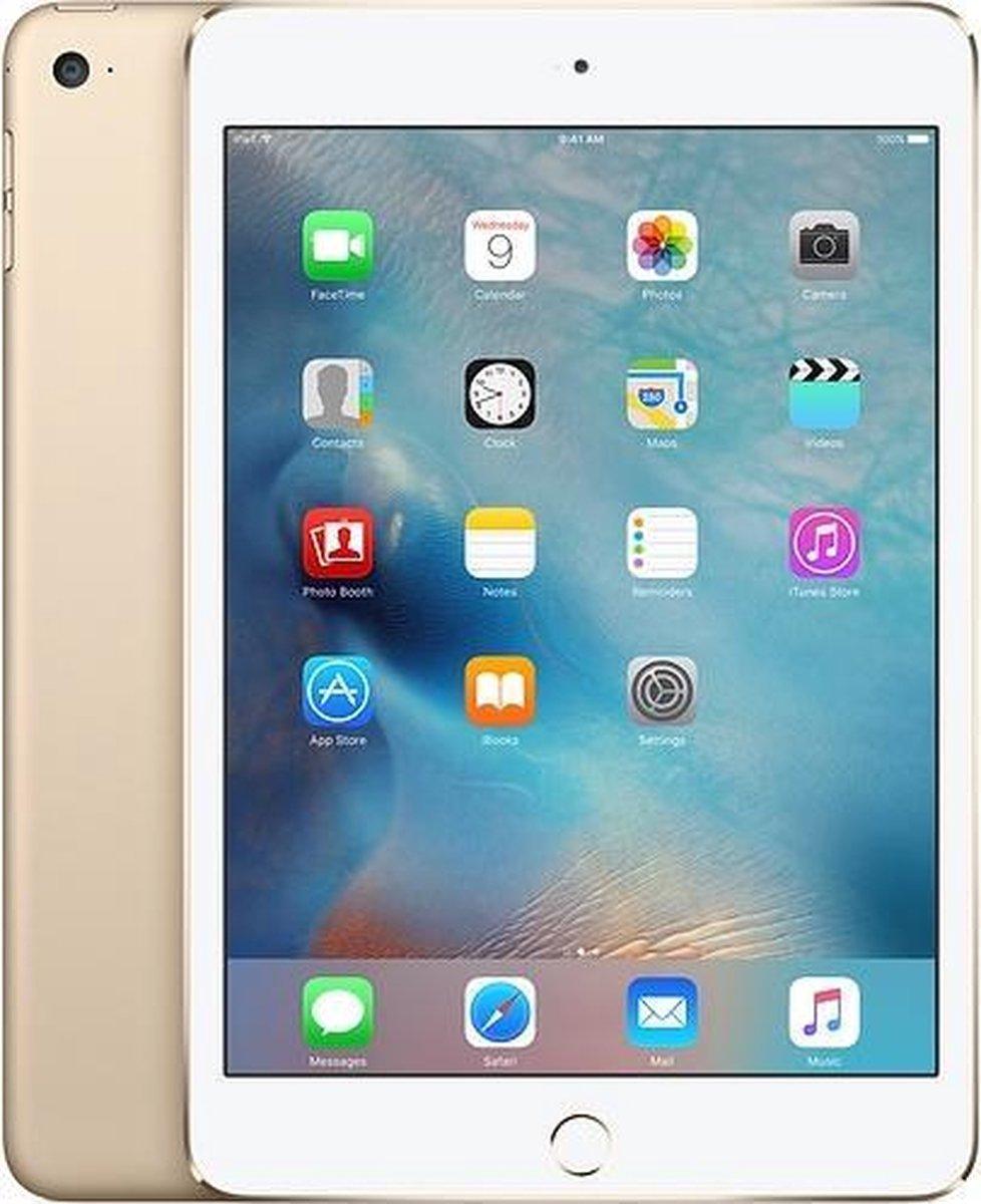 Forza Refurbished Apple iPad Mini 4 Gold 16GB Wifi + 4G – Licht gebruikt
