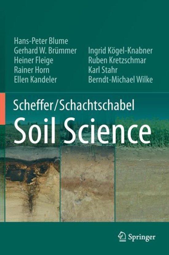 Boek cover Scheffer/Schachtschabel Soil Science van Hans-Peter Blume (Hardcover)