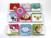 Luxe kerstkaarten en nieuwjaarskaarten met envelop - Mini - 200 stuks  - Serie F