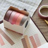 Set van 5 Rolletjes Washi Tape Cherry Blossom | Masking Tape