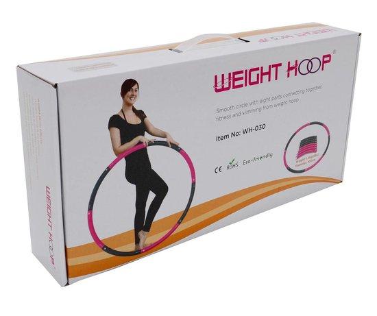 Weight hoop New Style - Fitness Hoelahoep - 1.4 kg - Ø 100 cm - Roze/Grijs
