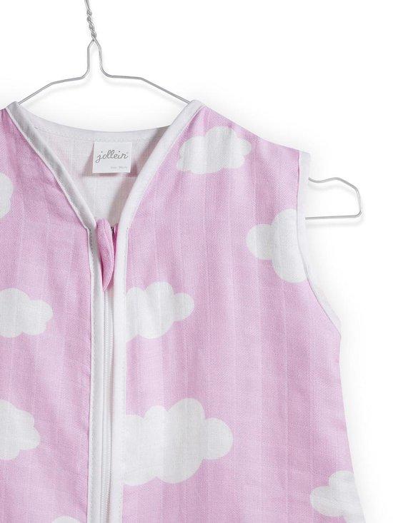 Jollein Clouds - Babyslaapzak Hydrofiel Zomer - 110 cm - Pink