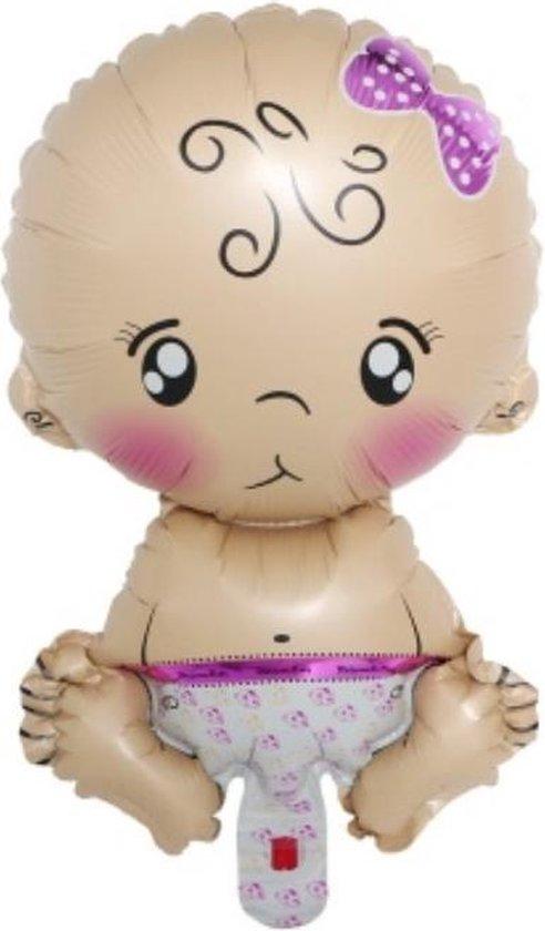 2 stuks folie ballon baby girl 40 x 25 cm