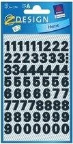 Cijfer etiketten/stickers watervast/weerbestendig 2 vellen 9 mm - stickervellen kantoor/school/thuis