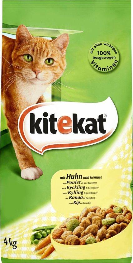 Kitekat Droog - Kip/Kalkoen/Groenten - Kattenvoer - 4 kg