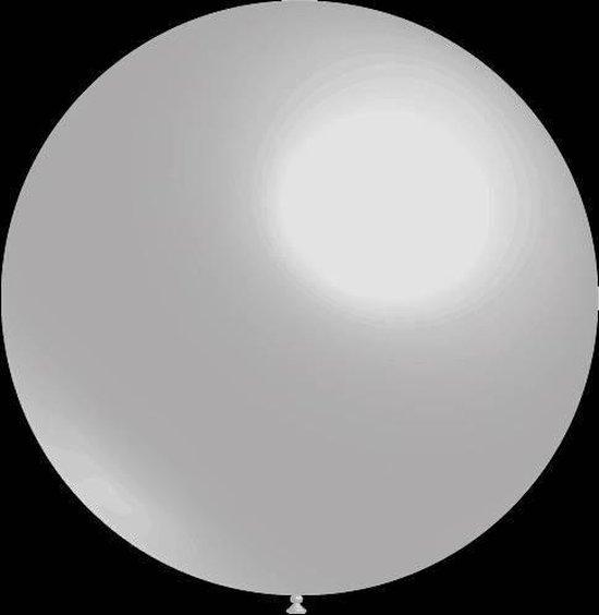 50 stuks - Decoratieve ballonnen - 28 cm - metallic zilver professionele kwaliteit