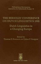 The Berkeley Conference on Dutch Linguistics- 1993