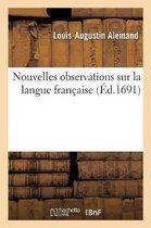 Nouvelles observations sur la langue francaise