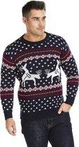 """Foute Kersttrui Heren - Christmas Sweater """"Rendieren doen een Spelletje"""" - Kerst trui Mannen Maat M"""