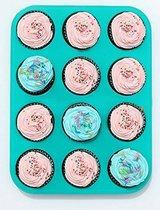Cupcake Bakvorm - 12 Cupcakes - Blauw - Siliconen