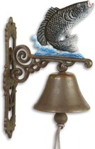 Gietijzeren - deurbel - vis - ornament - bel - gietijzer
