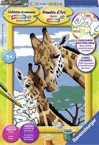 Ravensburger Schilderen op nummer Giraffen