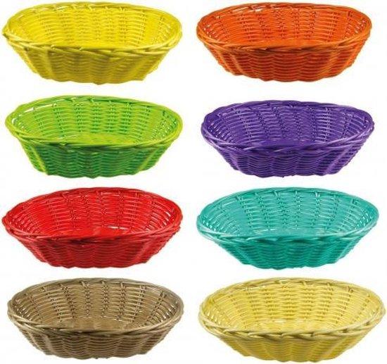 Gekleurd rieten mandje 20 cm Paars