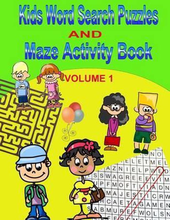 Kids Word Search Puzzles and Maze Activity Book