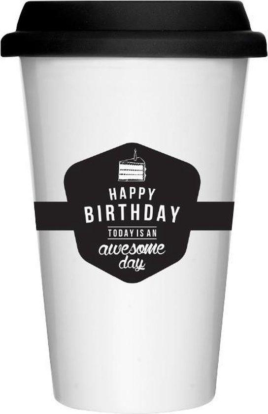 KOFFIEBEKER - Take away coffee - duurzaamheid - milieu bewust - zero waste - koffiebeker - koffie - keramic mug - verjaardag - Birthday